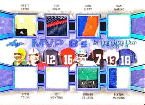 MVP 8's Brett Favre, Steve Young, Tom Brady, Joe Montana, John Elway, Boomer Esiason, Dan Marino, Peyton Manning