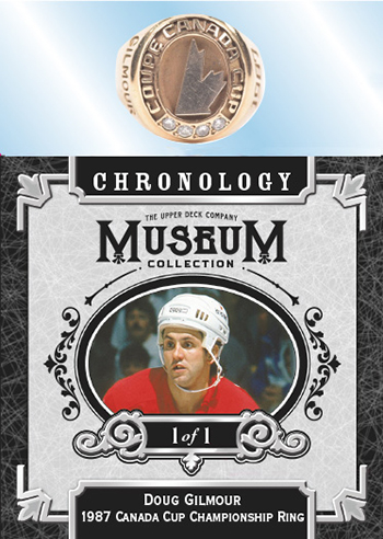 Museum Collection Relics Doug Gilmour Canada Cup Ring MOCK UP