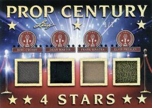 Prop Century 4 Stars Relics Bing Crosby, Dean Martin, Frank Sinatra, Elvis Presley MOCK UP