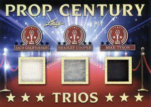 Prop Century Trios Relics Zach Galifanakis, Bradley Cooper, Mike Tyson MOCK UP