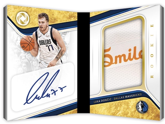 Rookie Patch Auto Booklet Sponsor Logo Luka Doncic MOCK UP