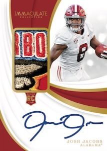 Rookie Patch Auto Josh Jacobs MOCK UP