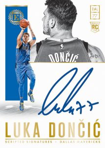 Rookie Scripted Signatures Luka Doncic MOCK UP