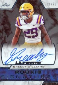 Rookie Signatures Greedy Williams