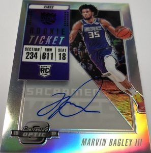 Rookie Ticket Auto Marvin Bagley III