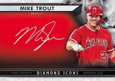Silver Ink Auto Red Mike Trout