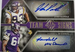 Team Signs Dual Signatures John Randle, Randall McDaniel