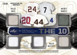 The 10 Relics MOCK UP Back