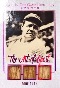 The Art of Sport Triple Relics Babe Ruth