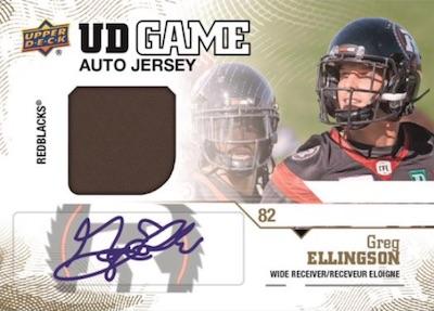 UD Game Jersey Auto Greg Ellingson