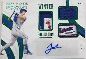 Winter Collection Auto Relics Jeff McNeil