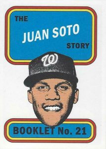 1970 Topps Player Story Booklets Juan Soto MOCK UP