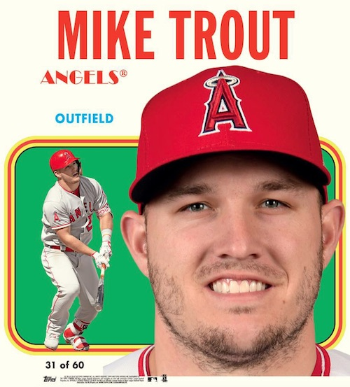 1970 Topps Poster Box Loader Mike Trout MOCK UP