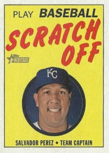 1970 Topps Scratch Off Salvador Pere MOCK UP