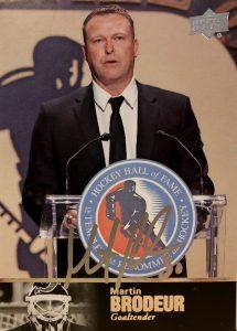 1997 Ultimate Legends HOF Signatures Martin Brodeur