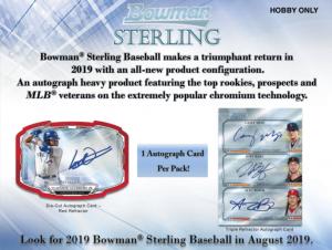2019 Bowman Sterling Baseball