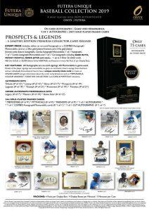 2019 Futera Unique Baseball Collection Prospect & Legends