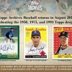 2019 Topps Archives Baseball