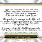 2019 Topps Five Star Baseball