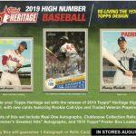 2019 Topps Heritage High Number Baseball