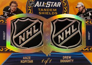 All-Star Skills Tandems Shield Patch Anze Kopitar, Drew Doughty