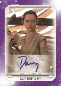 Autographs Purple Daisey Ridley as Rey