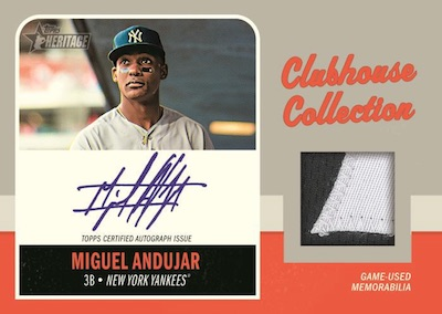 Clubhouse Collection Auto Relic Miguel Andujar MOCK UP