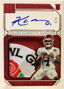 College Silhouettes Signatures Kyler Murray