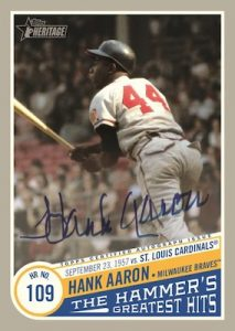 The Hammer's Greatest Hits Auto Hank Aaron MOCK UP