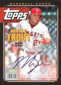 Topps Magazine Auto Mike Trout MOCK UP