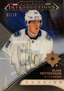 Ultimate Introductions Gold Auto Elias Pettersson