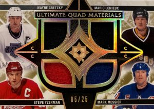 Ultimate Quad Materials Wayne Gretzky, Mario Lemieux, Steve Yzerman, Mark Messier