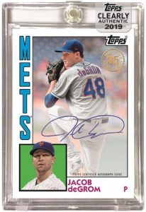 1984 Baseball Auto Jacob deGrom