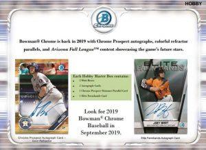 2019 Bowman Chrome Baseball