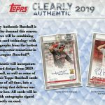2019 Topps Clearly Authentic Baseball