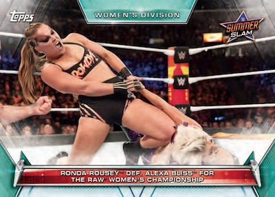 Base Memorable Matches and Moments Ronda Rousey Def Alexa Bliss