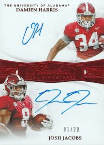 Flawless Rookie Dual Signatures Damien Harris, Josh Jacobs MOCK UP