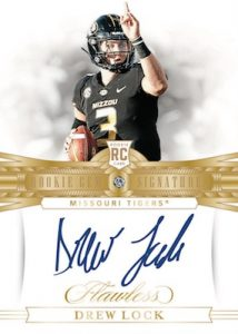 Flawless Rookie Gems Signatures Drew Lock MOCK UP