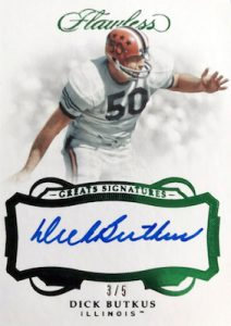 Greats Signatures Emerald Dick Butkus MOCK UP