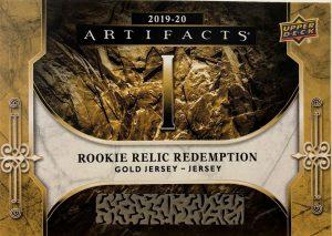 Roman Numeral Rookies Redemption Auto Relics Gold
