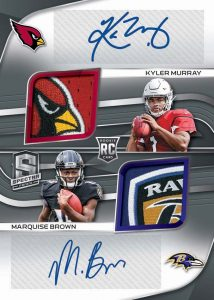 Rookie Dual Patch Auto Kyler Murray, Marquise Brown MOCK UP