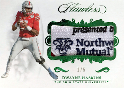 Rookie Patches Dwayne Haskins MOCK UP