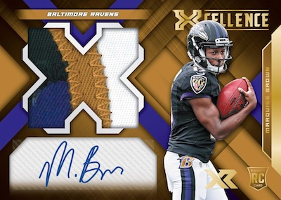 Rookie Xcellence Auto Swatches Marquise Brown MOCK UP