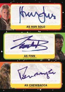 Triple Auto Han Solo, Finn, Chewbacca