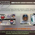 2019 Topps Dynasty Baseball