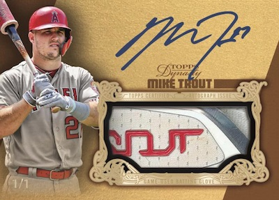 Auto Batting Glove Gold Mike Trout MOCK UP