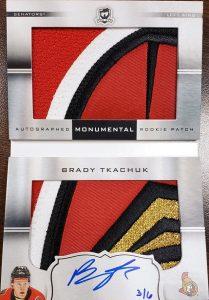 Auto Monumental Rookie Patch Booklet Brady Tkachuk