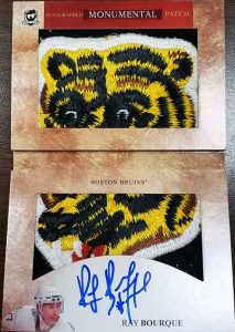Autographed Monumental Patch Booklet Ray Bourque