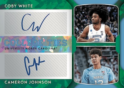 College Ties Auto Coby White, Cameron Johnson