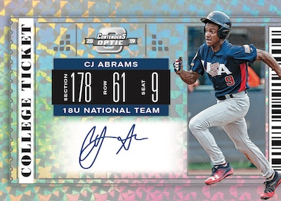 Contenders Optic College Ticket Signatures CJ Abrams